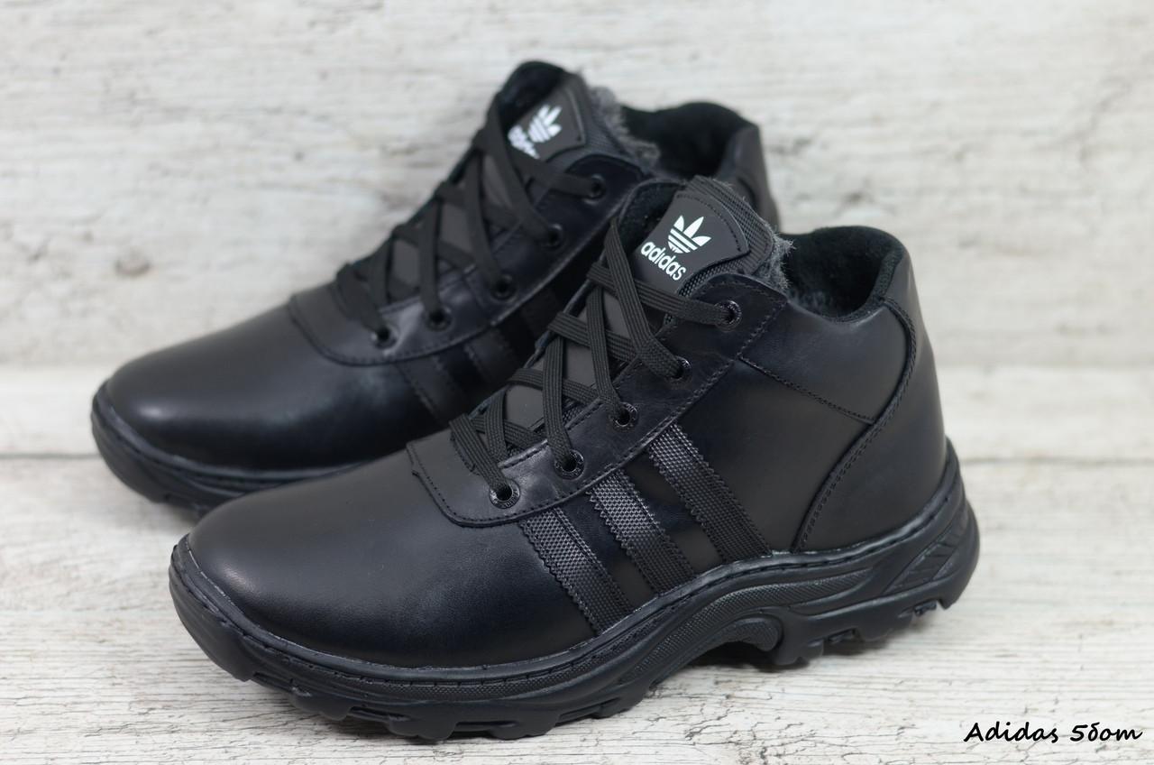 Мужские кожаные зимние ботинки Adidas (Реплика) (Код: Adidas 5бот  ) ►Размеры [43]