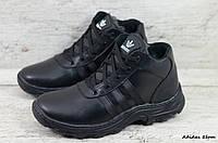 Мужские кожаные зимние ботинки Adidas (Реплика) (Код: Adidas 5бот  ) ►Размеры [43], фото 1