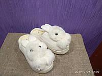 Тапочки женские с ушками. Тапки зайчики
