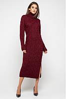 "Бордовое платье ""Ангелина"", размер 42–48"