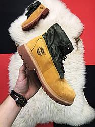 Мужские  ботинки Timberland Military Ginge демисезонные (желтый)