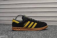 Мужские кроссовки Adidas Hamburg Black Yellow,Реплика, фото 1