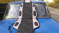 Накидка на сиденье с подогревом Vitol H 19002 GY/BK, фото 1