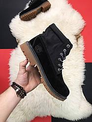Чоловічі ботинкиTimberland Military Black демісезонні (чорний)