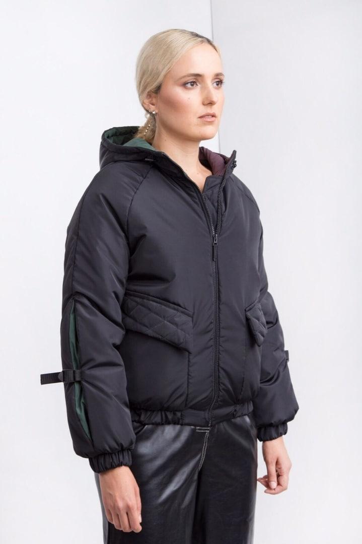 Женская черная куртка деми плащовка осень зима 2019-2020 Jaket Jeans Black L