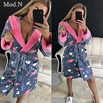 Женский теплый плюшевый халат для дома, фото 2