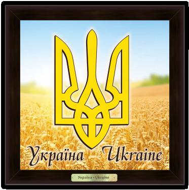 """Эко-картина  """"Українська символіка"""" - """"Герб Украины"""""""
