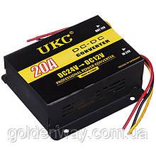 Автомобильный понижающий преобразователь напряжения инвертор UKC DC/DC с 24v на 12v мощность 20A