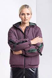 Женская фиолетовая куртка деми плащовка осень зима 2019-2020 Woman Jaket Jeans Violet