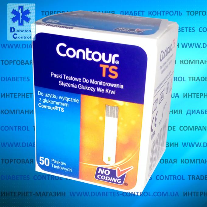 Тест-полоски для глюкометра Contour TS / Контур ТС 50 шт.