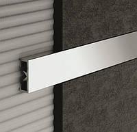 Декоративная вставка для плитки полированное серебро