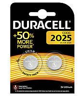Батарейка литиевая Duracell CR2025-U2 Lithium 3V дисковая таблетка