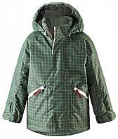 Куртка зимняя в клеточку, Reima, темно-зеленая (110) (521461_8921/110)