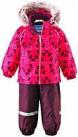 Комплект одежды зимний с пандами (куртка и штаны), Lassie by Reima малиновый (80) (713695A_3521 малиновий)