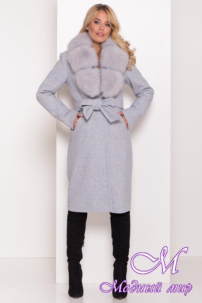 Теплое зимнее пальто с мехом (р. S, М, L) арт. К-81-65/44174
