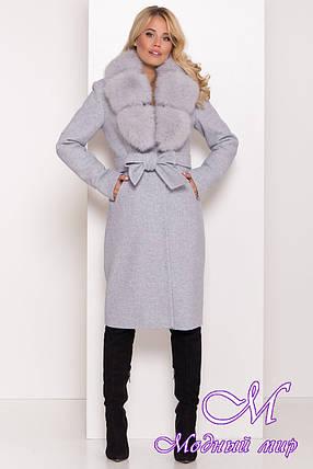 Теплое зимнее пальто с мехом (р. S, М, L) арт. К-81-65/44174, фото 2