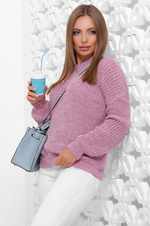 Фото Вязаного женского свитера Луи-8