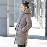 """Стильное зимнее пальто для девочки""""Шарф"""", фото 2"""