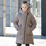 """Стильное зимнее пальто для девочки""""Шарф"""", фото 3"""