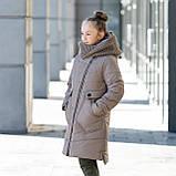 """Стильное зимнее пальто для девочки""""Шарф"""", фото 4"""