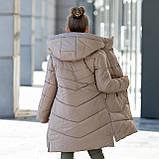 """Стильное зимнее пальто для девочки""""Шарф"""", фото 5"""