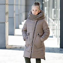 """Стильное зимнее пальто для девочки""""Шарф"""""""