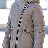 """Стильное зимнее пальто для девочки""""Шарф"""", фото 7"""