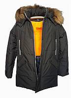Черная зимняя подростковая куртка, Макс Джинс, 140-164