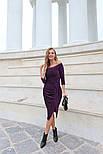 Женское платье с люрексом с плиссировкой (в расцветках), фото 5
