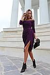 Женское платье с люрексом с плиссировкой (в расцветках), фото 4