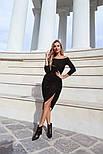 Женское платье с люрексом с плиссировкой (в расцветках), фото 3