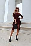 Женское платье с люрексом с плиссировкой (в расцветках), фото 2