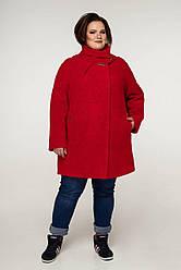 Пальто женское демисезонное В-1208 Art.6484 Teddy Bouclet Тон 1013 | 54-68р. 80% шерсти