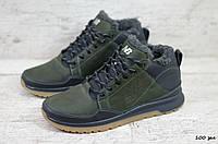 Мужские кожаные зимние кроссовки New balance (Реплика) (Код: 100 зел  ) ►Размеры [40,41,42,43,44,45], фото 1
