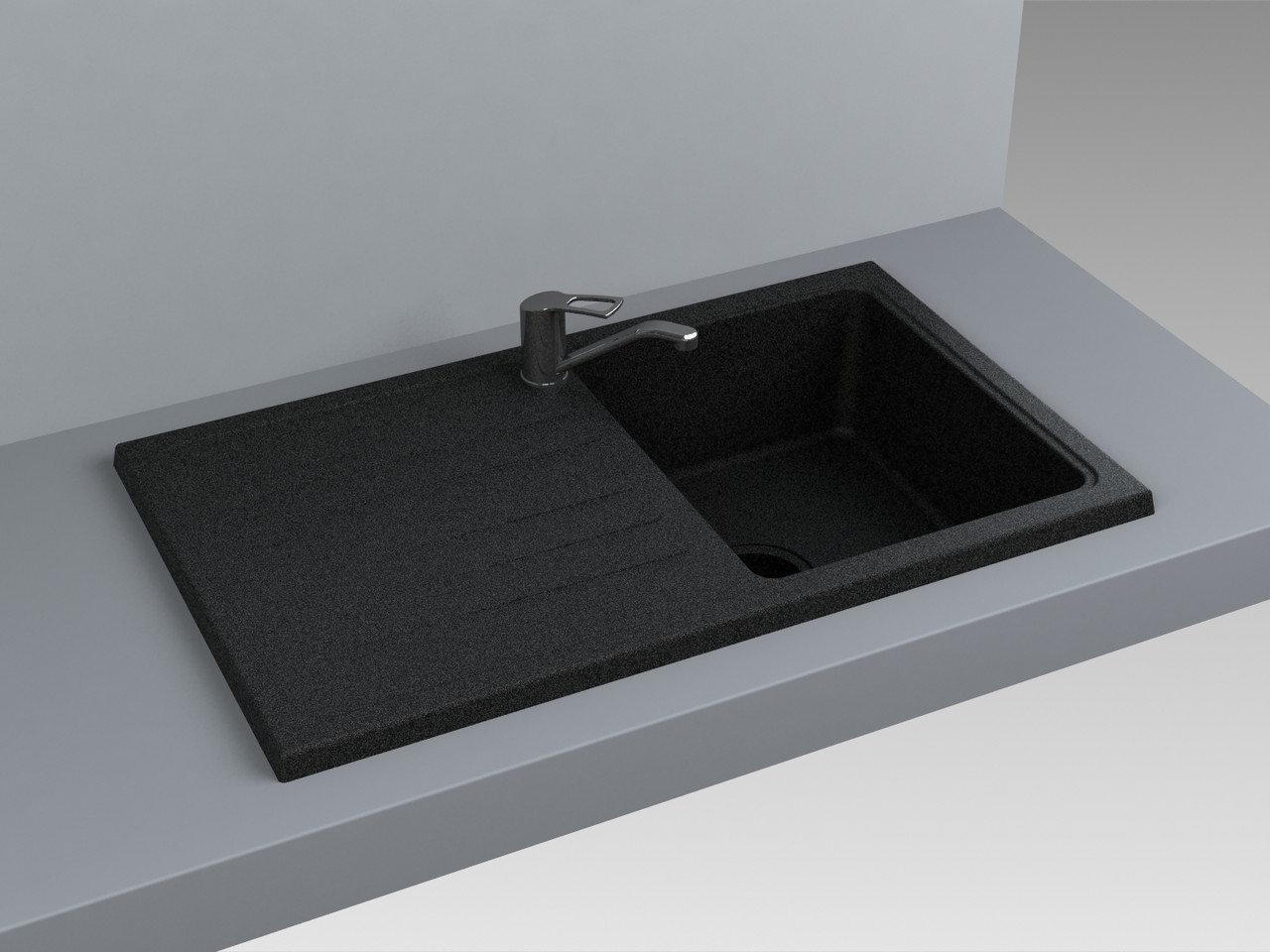 Кухонная мойка Miraggio Versal Black