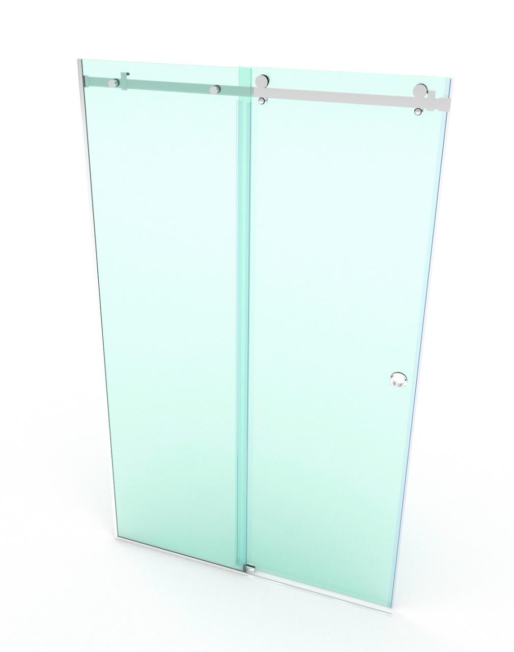 Полный комплект фурнитуры для раздвижной душевой стеклянной перегородки SD-02-01, полированная фурнитура