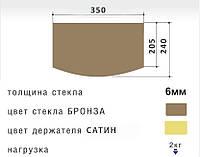Полка PL2RB-sat Bronze (Шоколад) 240*350*6 для TV/AV техники, фото 1