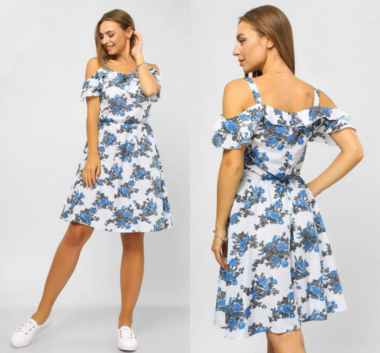 "Нежное женское платье ткань ""штапель"" размер 42 размер норма"
