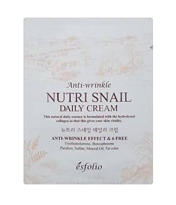 Питательный антивозрастной крем Esfolio Nutri Snail Daily Cream, пробник