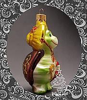 Стеклянная елочная игрушка Черепаха Тортила 263/с-а, фото 3