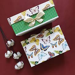"""Подарочная коробка """"Бабочки"""" 24 х 16 х 9,5"""