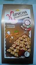 """Песочное печенье с кокосом и стевией """"Корисна кондитерська"""", 300 г"""