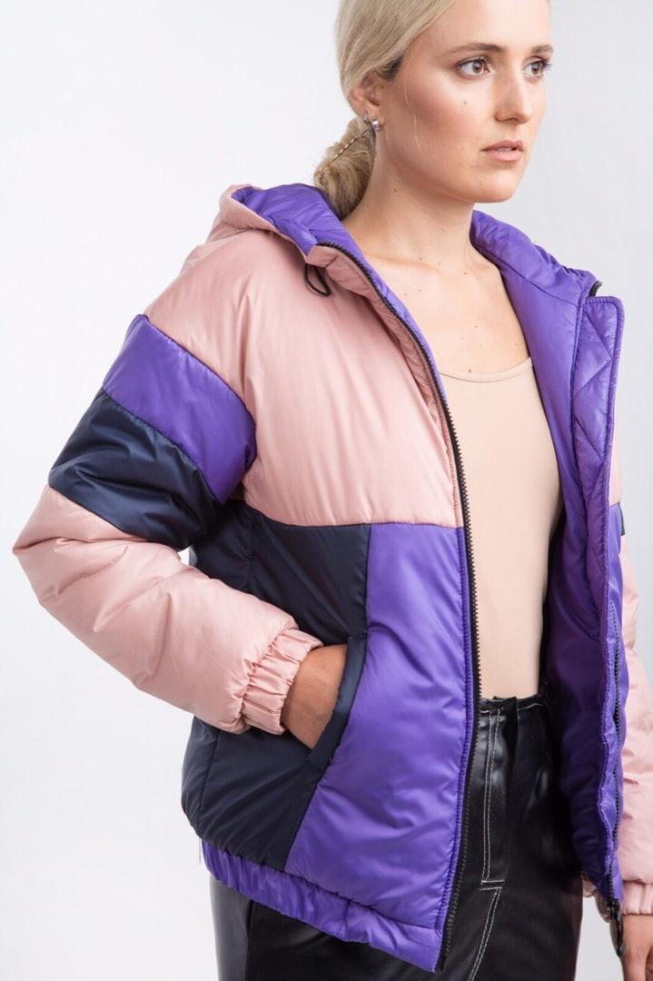 Видеообзор! Женская розовая цветная куртка деми плащовка осень зима 2019-2020 Woman Jaket Pink