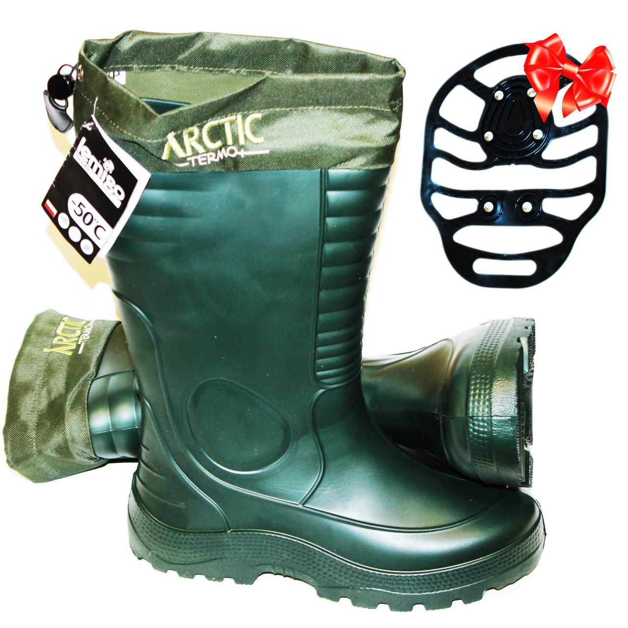 Чоботи з зимовим панчохою Lemigo Arctic termo 875. -50 С. Оригінал (виробництво Польща).