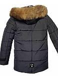 Зимова підліткова куртка,темно-синя, 38-44, фото 5