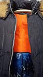Зимова підліткова куртка,темно-синя, 38-44, фото 6
