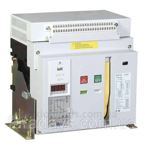 Автоматичний вимикач 3р, 2500A, 80kA, (ВА07-М IEK) з комбінованим розчіплювачем, стаціонарне виконання