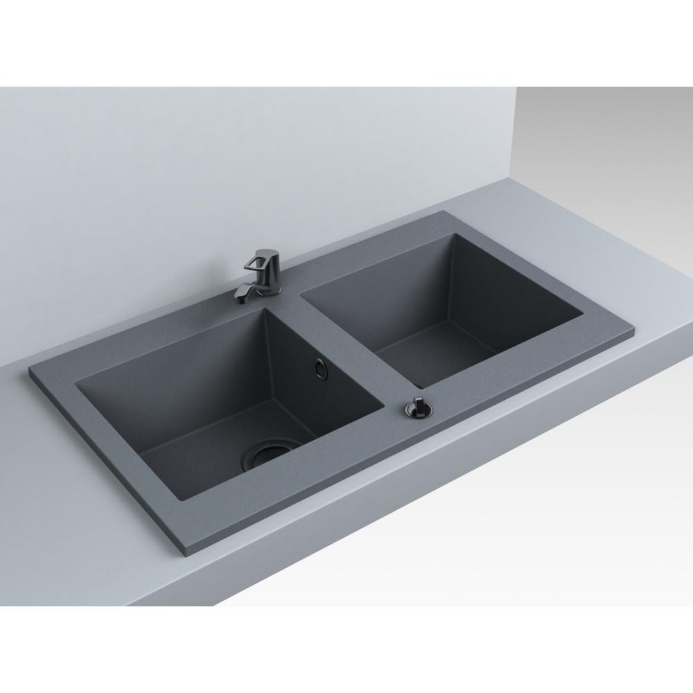 Кухонна мийка Miraggio Westeros Gray