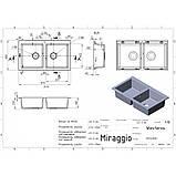 Кухонна мийка Miraggio Westeros Gray, фото 5