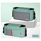 Универсальная сумка для коляски (зеленая с серыми вставками) (31х14х16см), фото 2